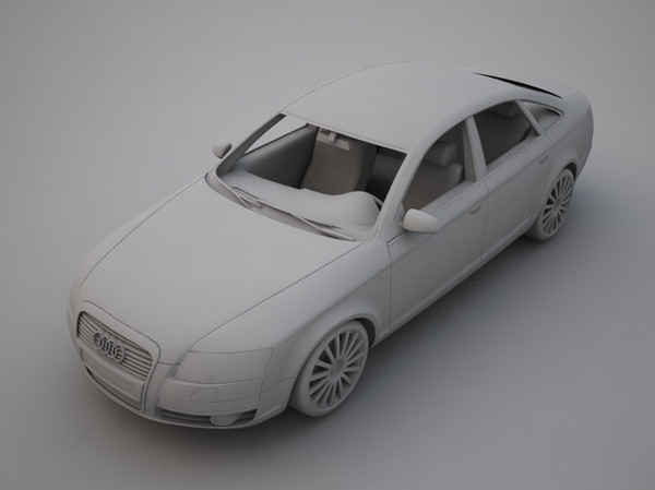 audi a6 2004 3d model 3ds max fbx other obj 118979