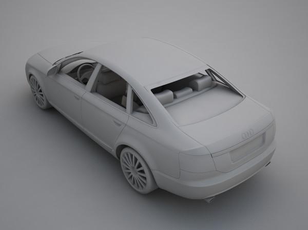 audi a6 2004 3d model 3ds max fbx other obj 118981