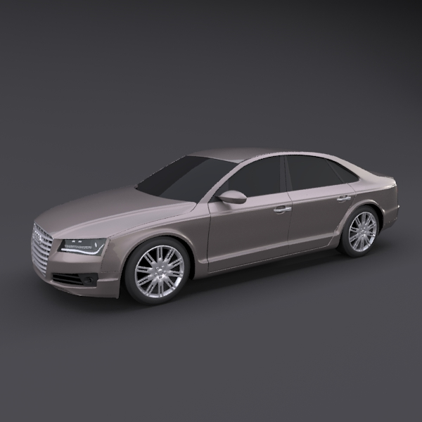 audi a8 2011 restyled 3d model 3ds fbx blend lwo obj 134444
