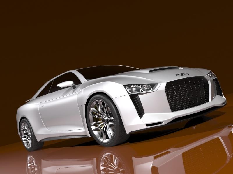 koncepti audi quattro 2010 modeli 3d 3ds max 128830