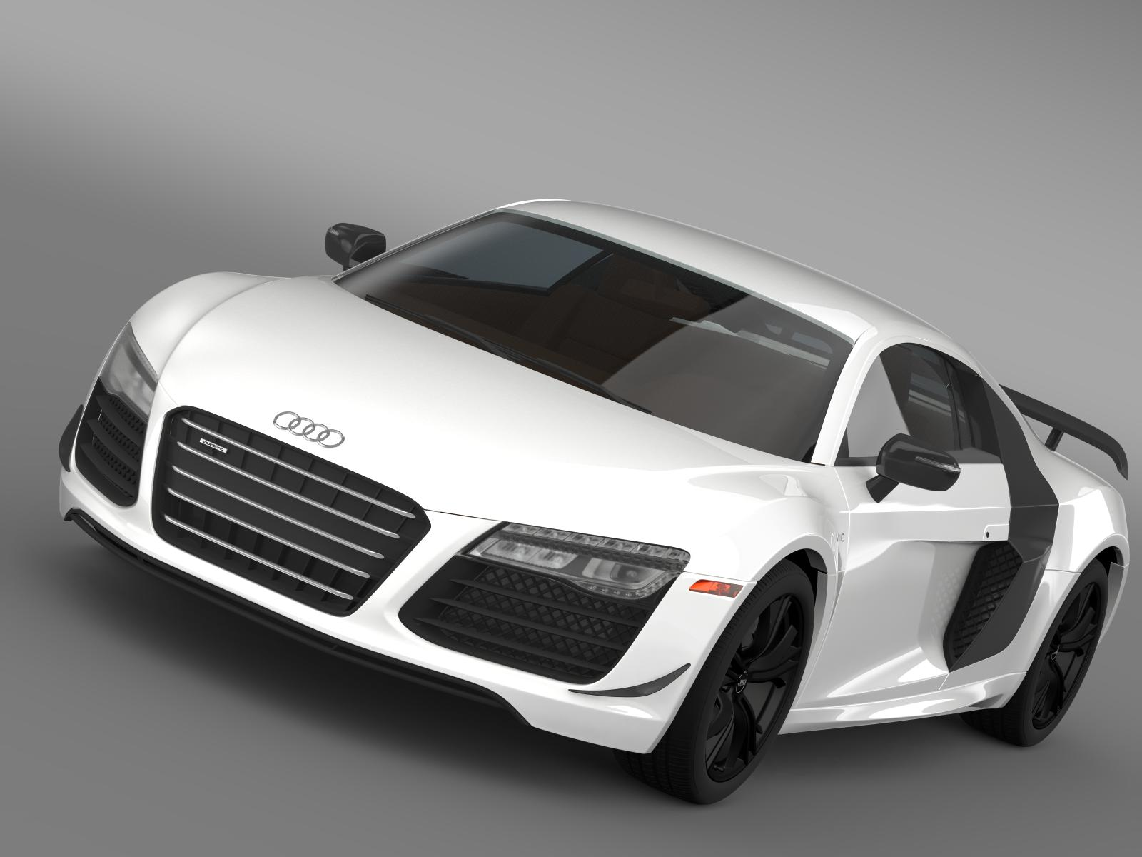 audi r8 competition 2015 3d model 3ds max fbx c4d lwo ma mb hrc xsi obj 165727