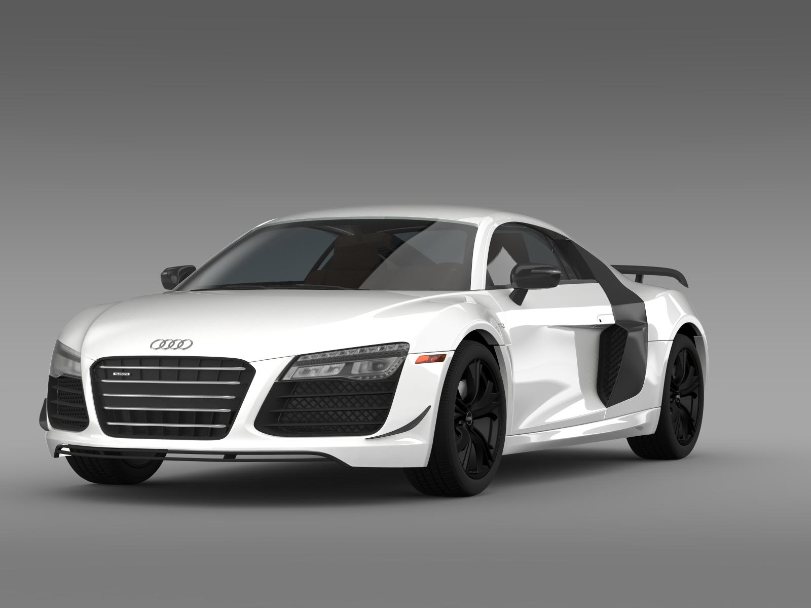 audi r8 competition 2015 3d model. Black Bedroom Furniture Sets. Home Design Ideas