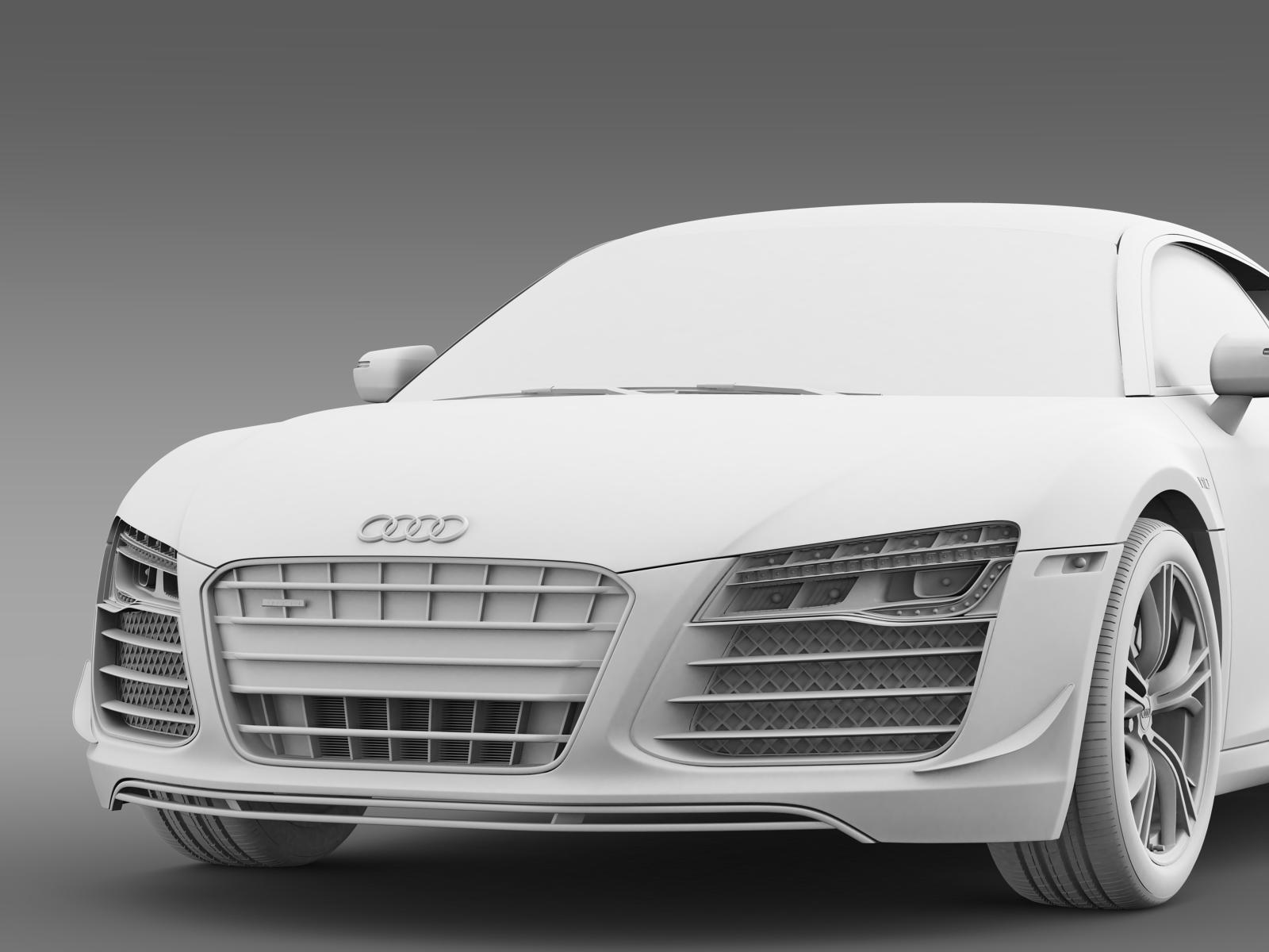 audi r8 competition 2015 3d model buy audi r8. Black Bedroom Furniture Sets. Home Design Ideas