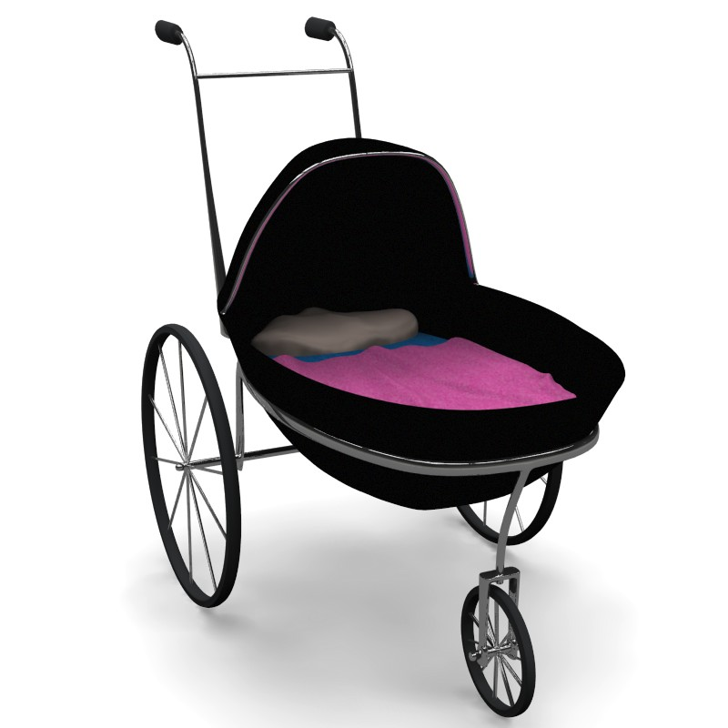 baby carriage 3d model obj 156308