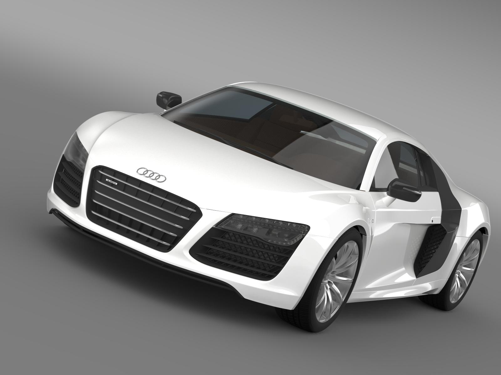 b&b audi r8 v10 plus 2013 3d model 3ds max fbx c4d lwo ma mb hrc xsi obj 164869