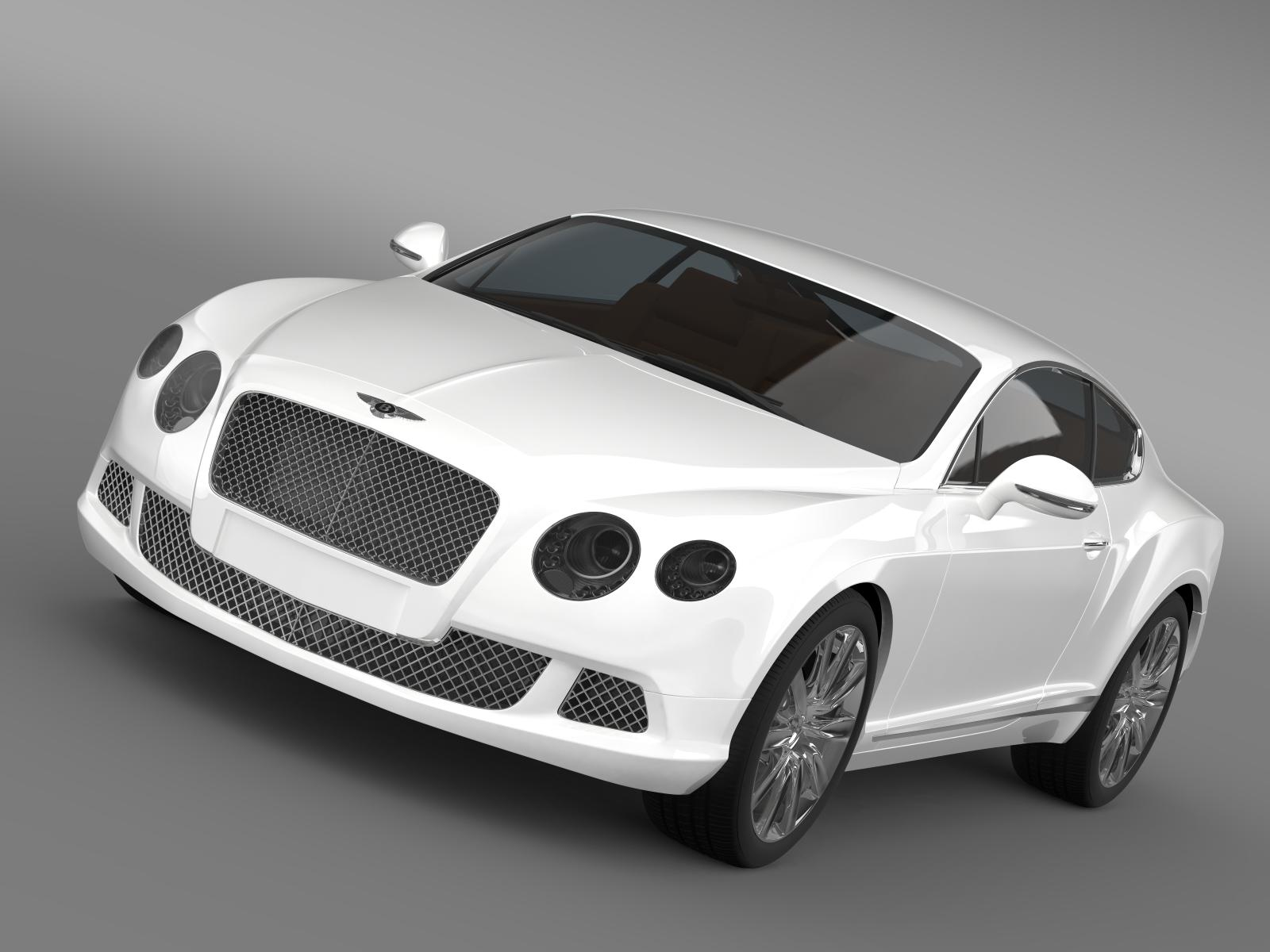 bentley continental gt 2011 3d model 3ds màxim fbx c4d lwo ma mb hrc xsi obj 163461