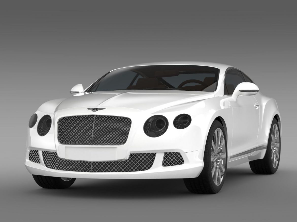 bentley continental gt 2011 3d model 3ds max fbx c4d lwo ma mb hrc xsi obj 163463
