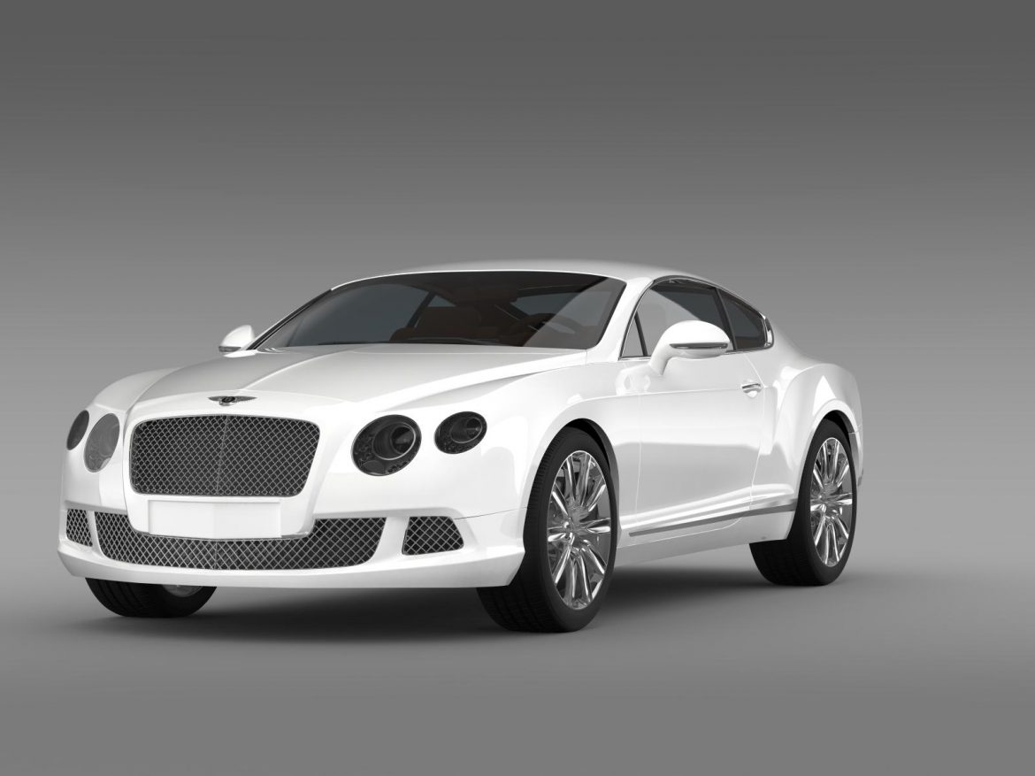 bentley continental gt 2011 3d model 3ds max fbx c4d lwo ma mb hrc xsi obj 163464