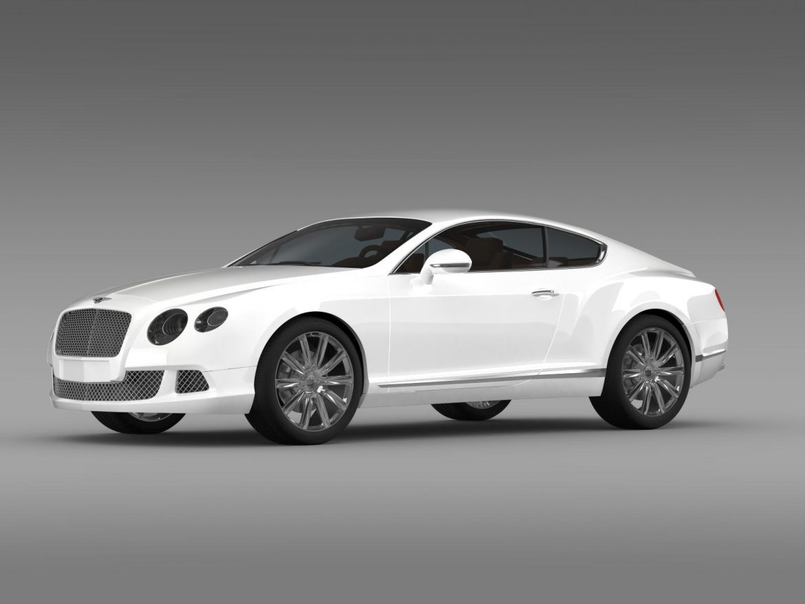 bentley continental gt 2011 3d model 3ds max fbx c4d lwo ma mb hrc xsi obj 163465