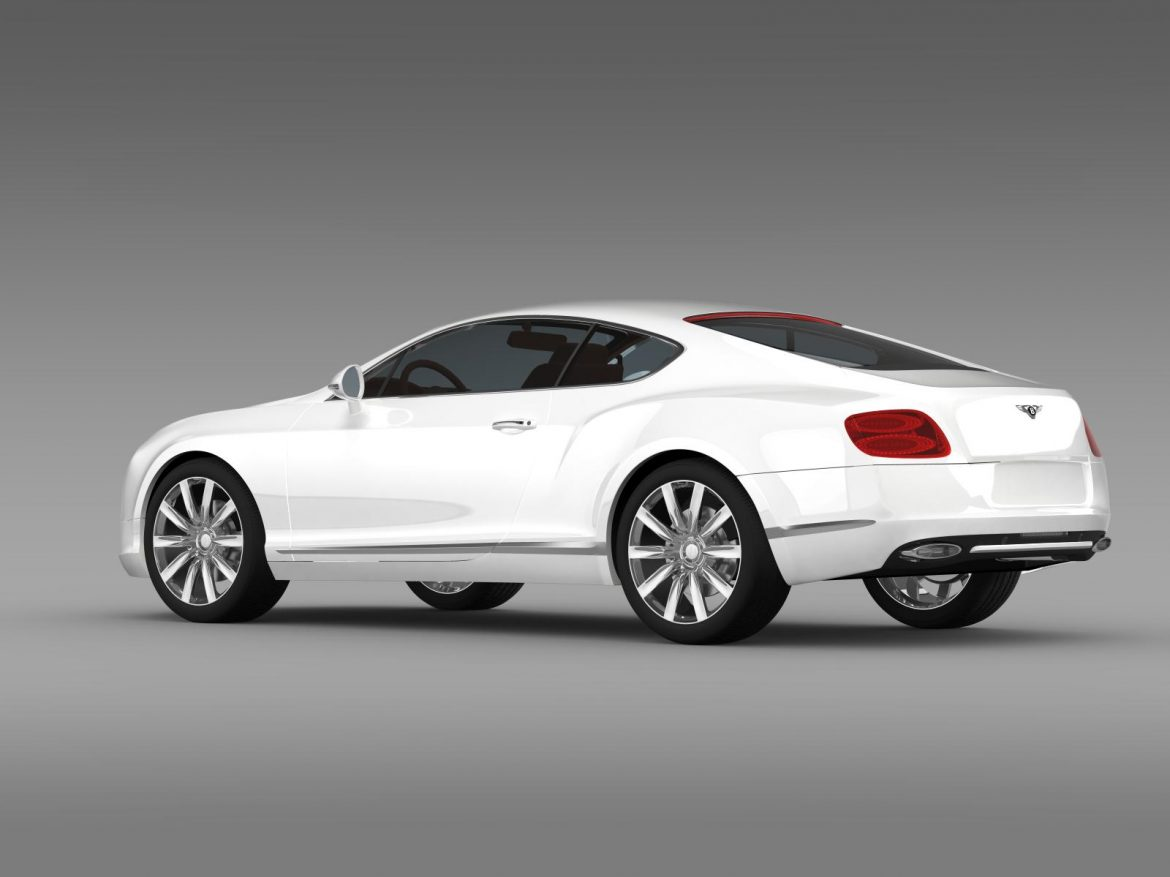 bentley continental gt 2011 3d model 3ds max fbx c4d lwo ma mb hrc xsi obj 163467