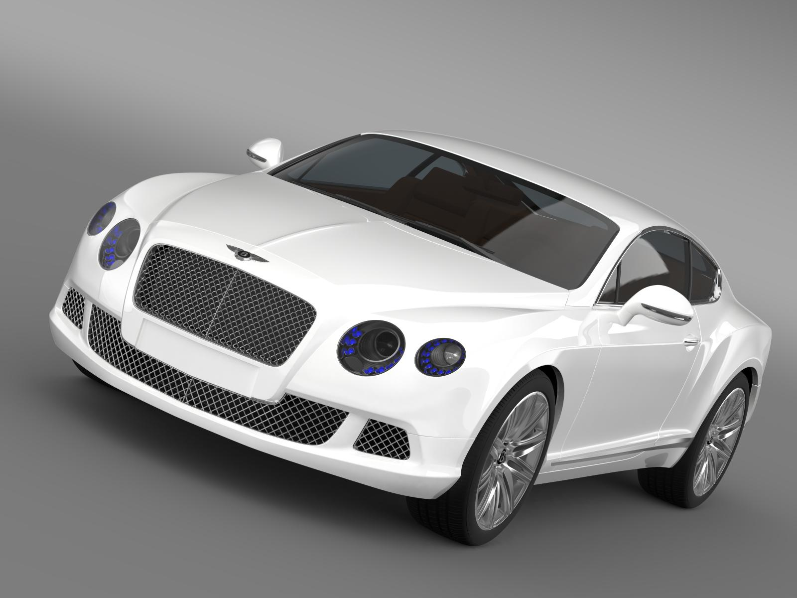bentley continental gt speed 2012 3d model 3ds max fbx c4d lwo ma mb hrc xsi obj 163422