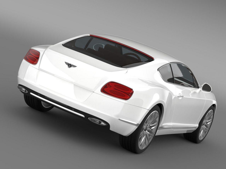bentley continental gt speed 2012 3d model 3ds max fbx c4d lwo ma mb hrc xsi obj 163423