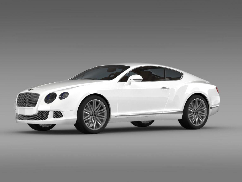 bentley continental gt speed 2012 3d model 3ds max fbx c4d lwo ma mb hrc xsi obj 163426