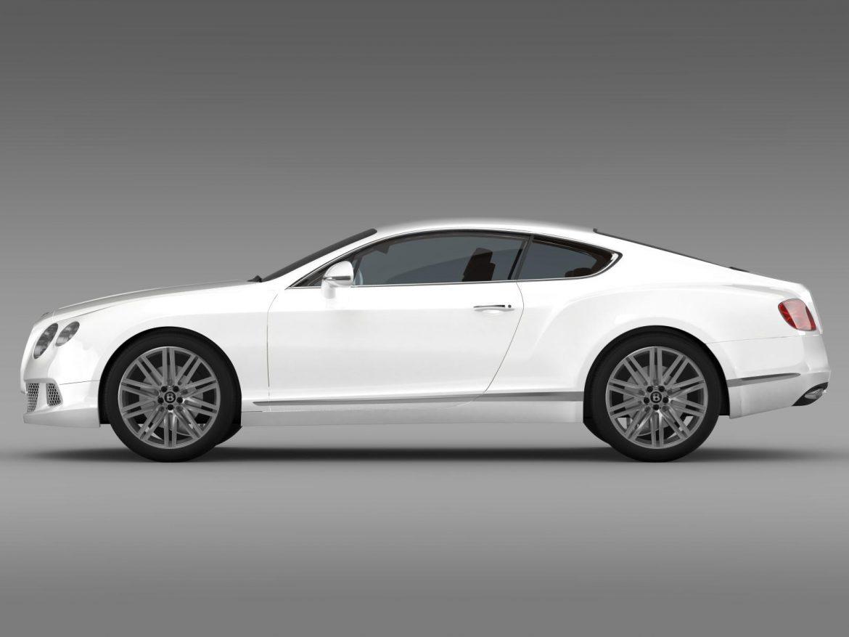 bentley continental gt speed 2012 3d model 3ds max fbx c4d lwo ma mb hrc xsi obj 163427