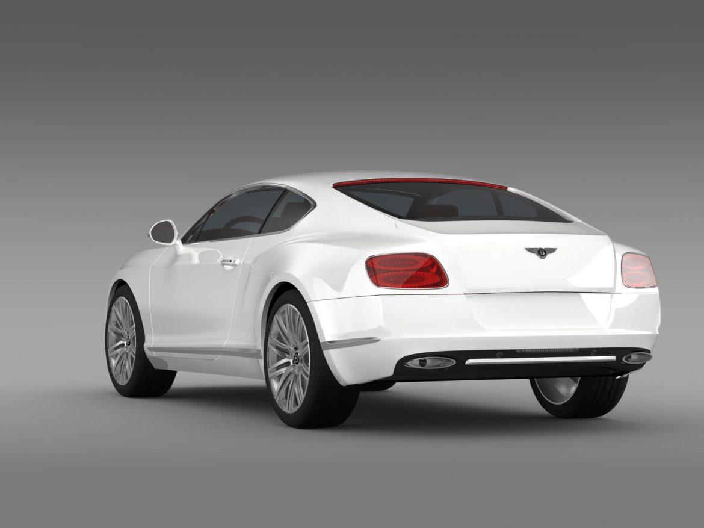 bentley continental gt speed 2012 3d model 3ds max fbx c4d lwo ma mb hrc xsi obj 163429