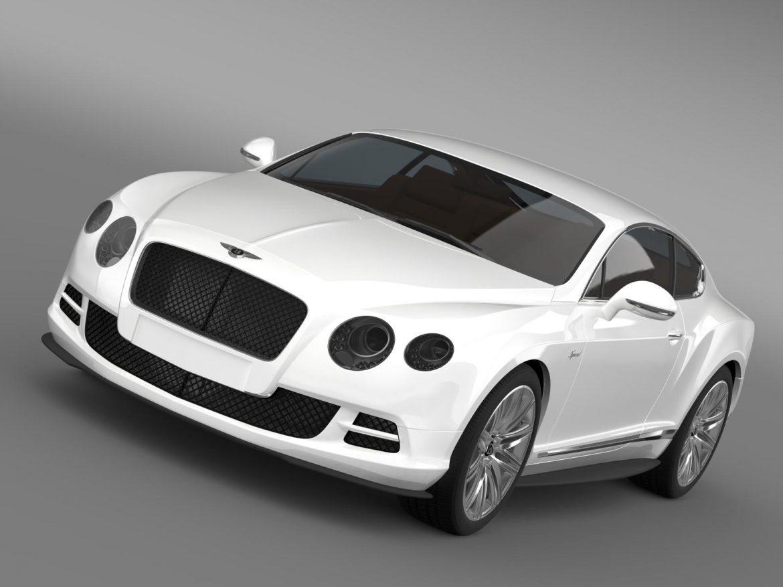 bentley continental gt speed 2014 3d model 3ds max fbx c4d lwo ma mb hrc xsi obj 163499