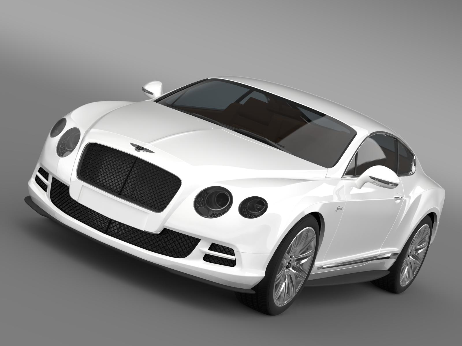 bentley continental gt speed 2014 3d model 3ds max fbx c4d lwo ma mb hrc xsi obj 163499