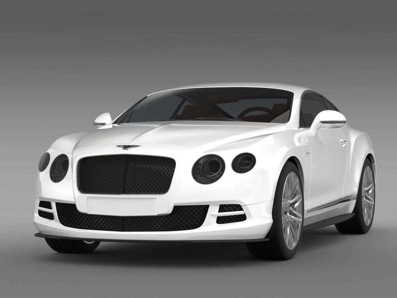 bentley continental gt speed 2014 3d model 3ds max fbx c4d lwo ma mb hrc xsi obj 163501