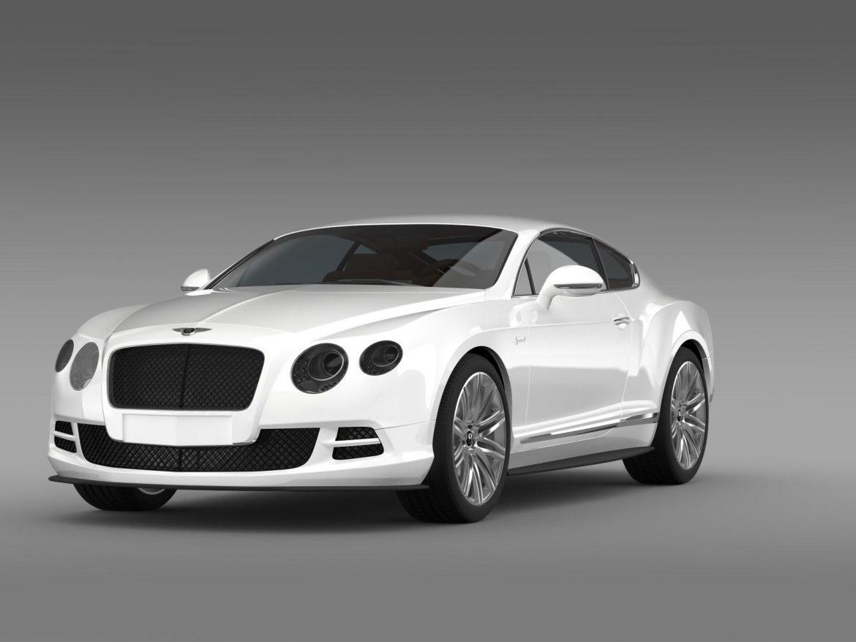 bentley continental gt speed 2014 3d model 3ds max fbx c4d lwo ma mb hrc xsi obj 163502