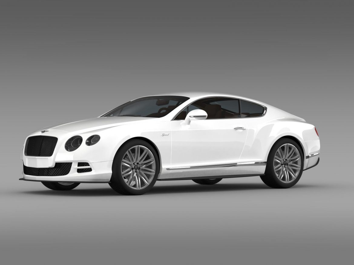 bentley continental gt speed 2014 3d model 3ds max fbx c4d lwo ma mb hrc xsi obj 163503