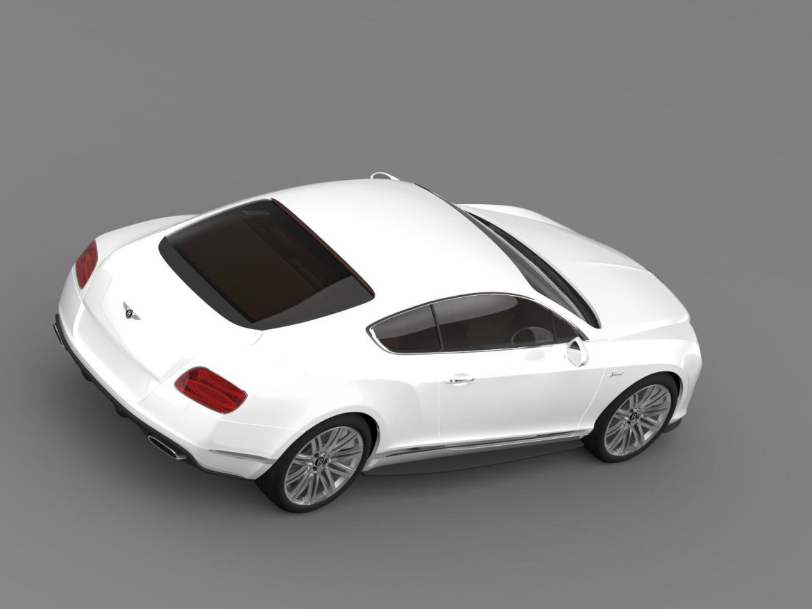 bentley continental gt speed 2014 3d model 3ds max fbx c4d lwo ma mb hrc xsi obj 163508