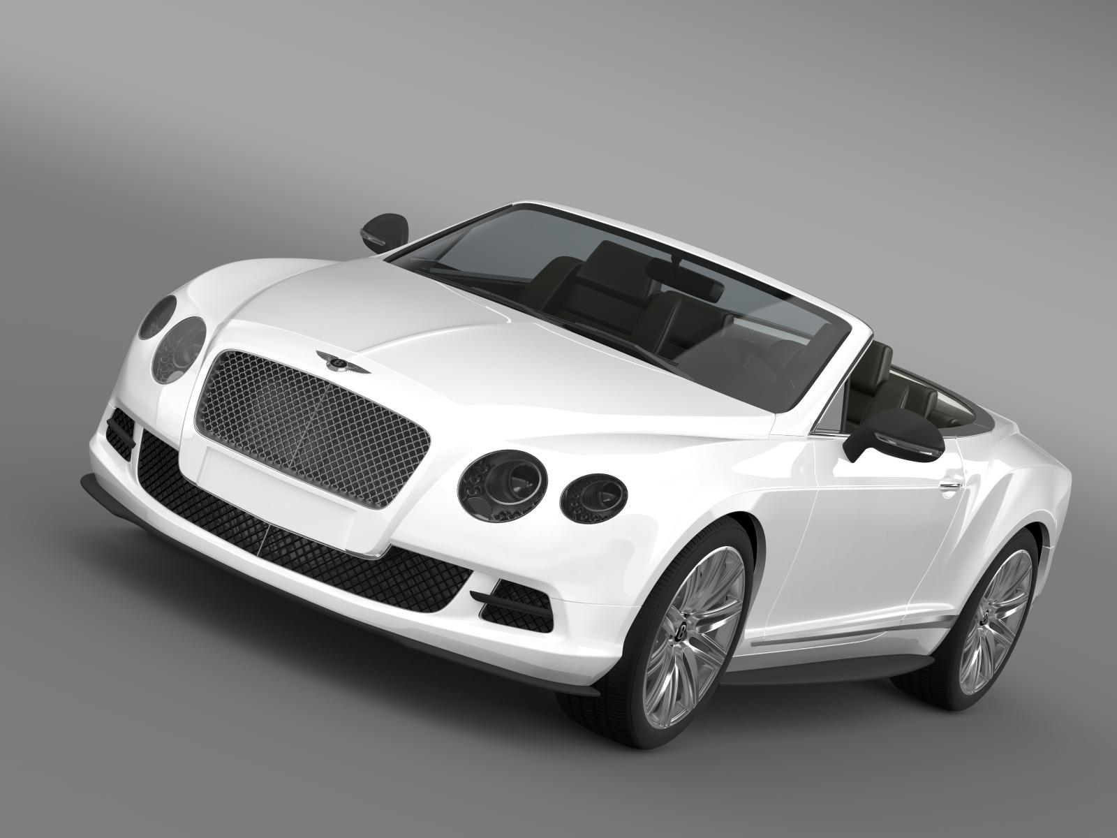bentley continental gt speed convertible 2012 3d model 3ds max fbx c4d lwo ma mb hrc xsi obj 163846