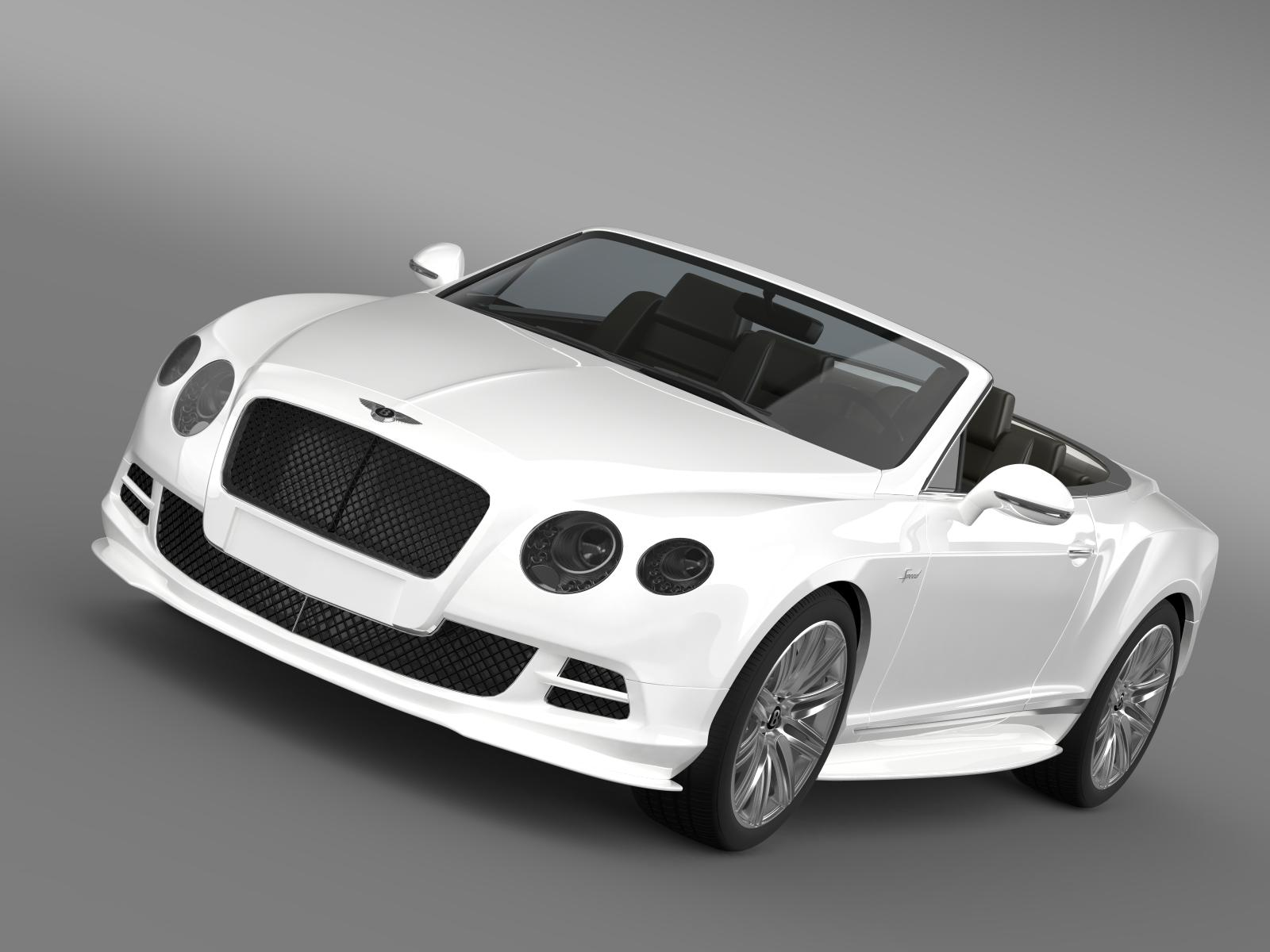 bentley continental gt speed convertible 2014 3d model 3ds max fbx c4d lwo ma mb hrc xsi obj 163865
