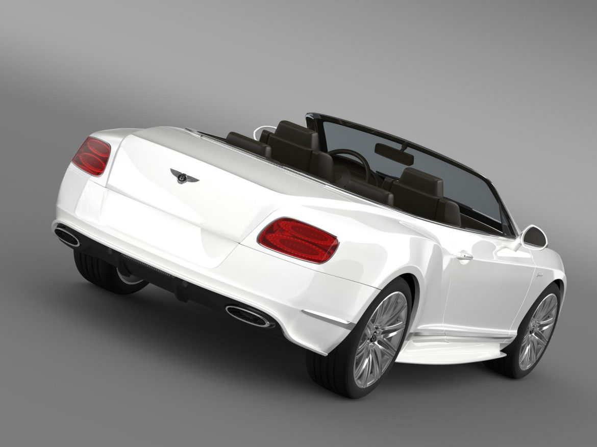 bentley continental gt speed convertible 2014 3d model 3ds max fbx c4d lwo ma mb hrc xsi obj 163866