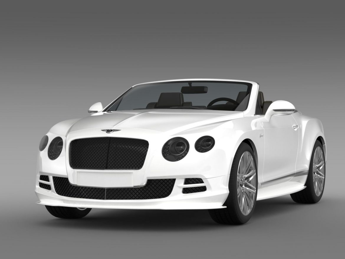 bentley continental gt speed convertible 2014 3d model 3ds max fbx c4d lwo ma mb hrc xsi obj 163867