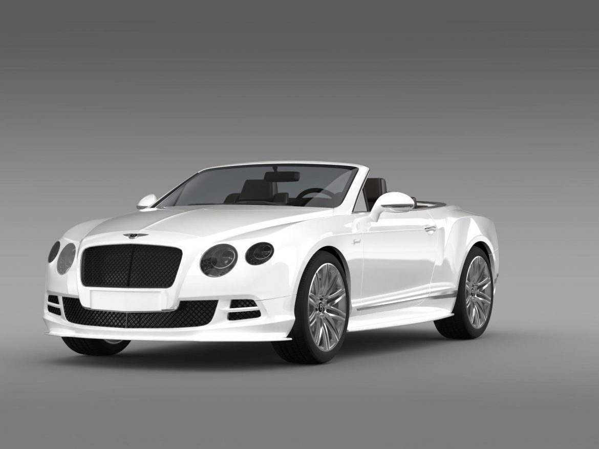 bentley continental gt speed convertible 2014 3d model 3ds max fbx c4d lwo ma mb hrc xsi obj 163868