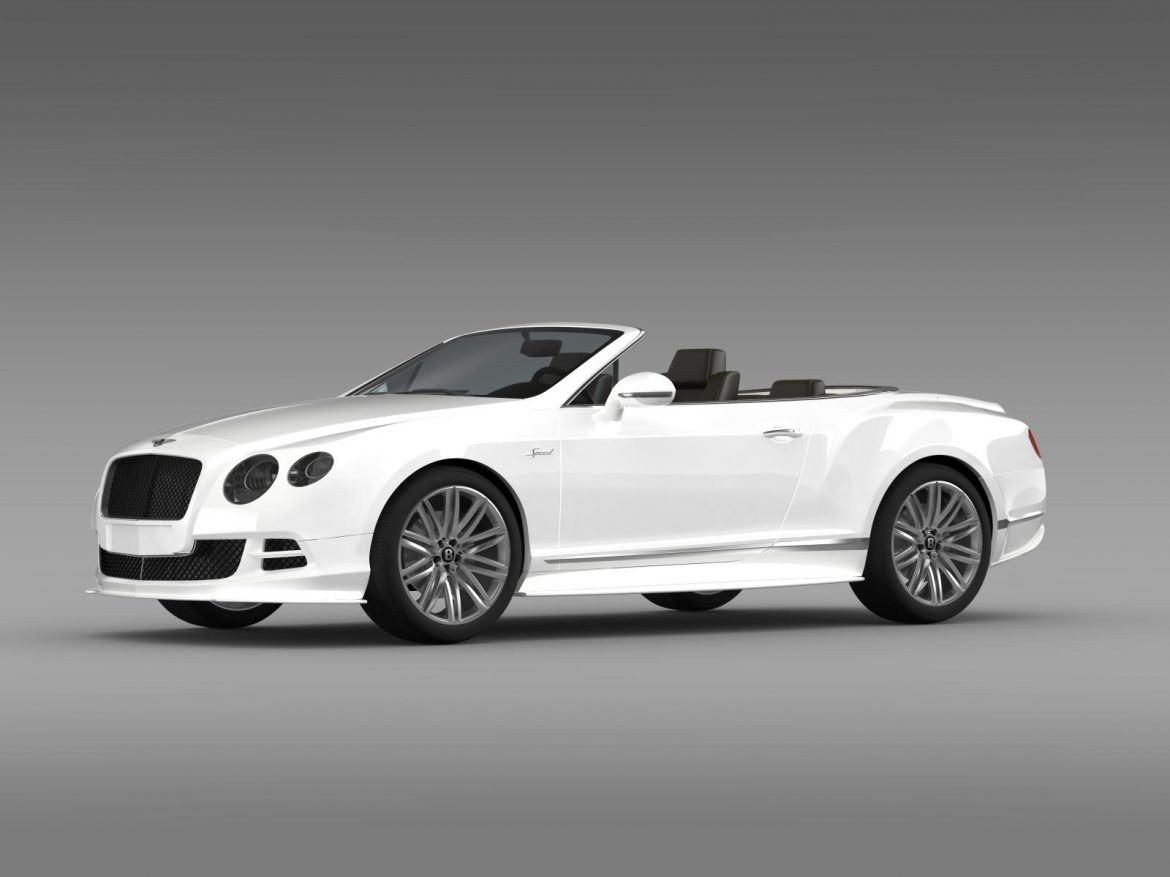 bentley continental gt speed convertible 2014 3d model 3ds max fbx c4d lwo ma mb hrc xsi obj 163869