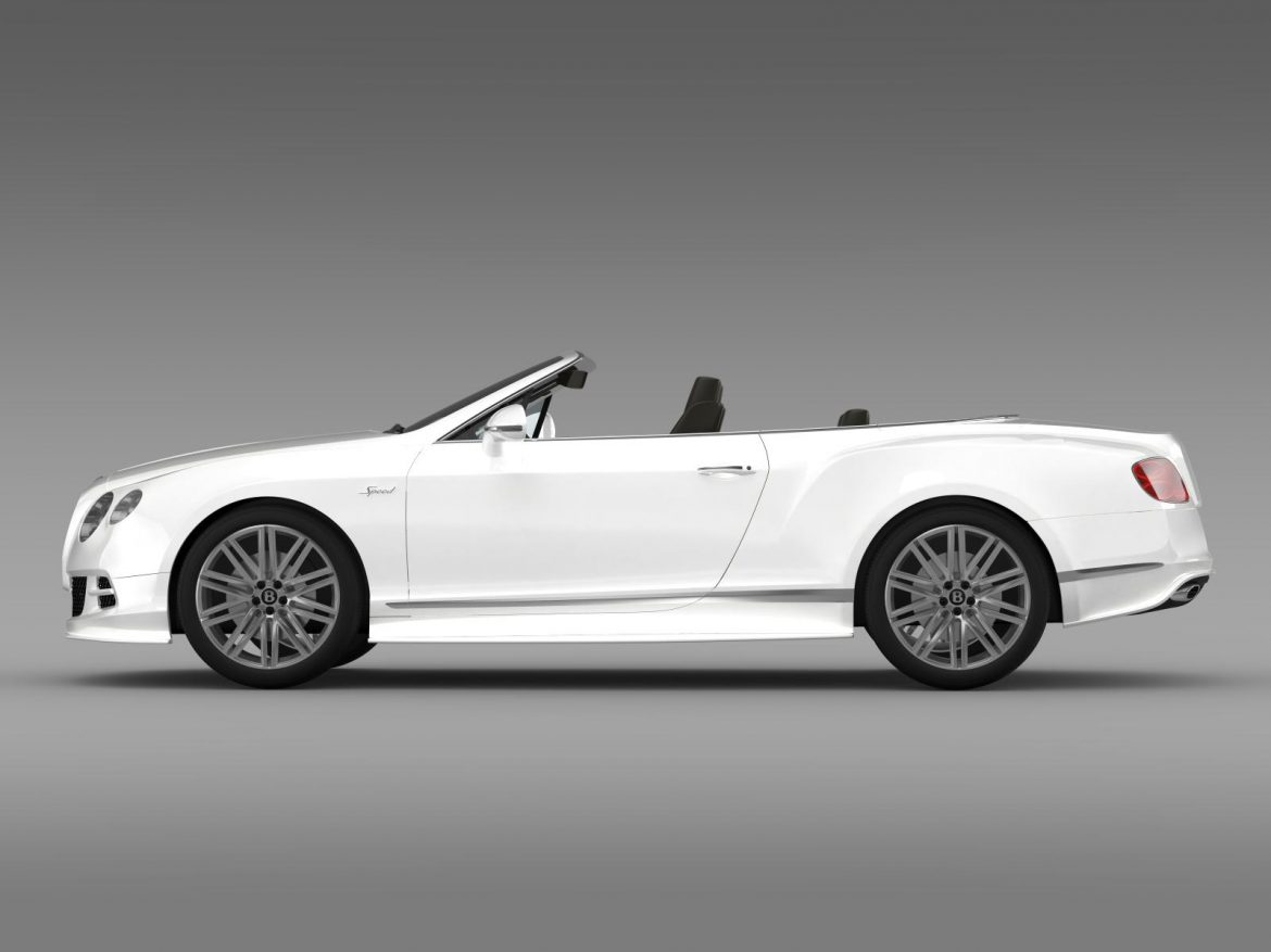 bentley continental gt speed convertible 2014 3d model 3ds max fbx c4d lwo ma mb hrc xsi obj 163870