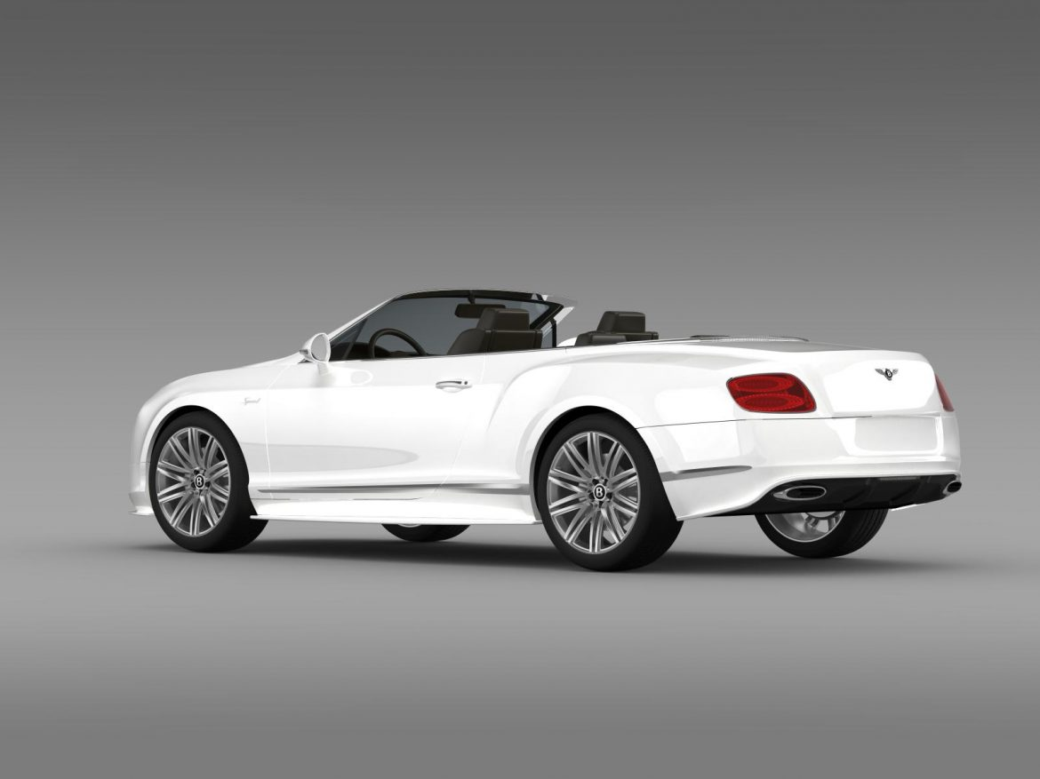 bentley continental gt speed convertible 2014 3d model 3ds max fbx c4d lwo ma mb hrc xsi obj 163871