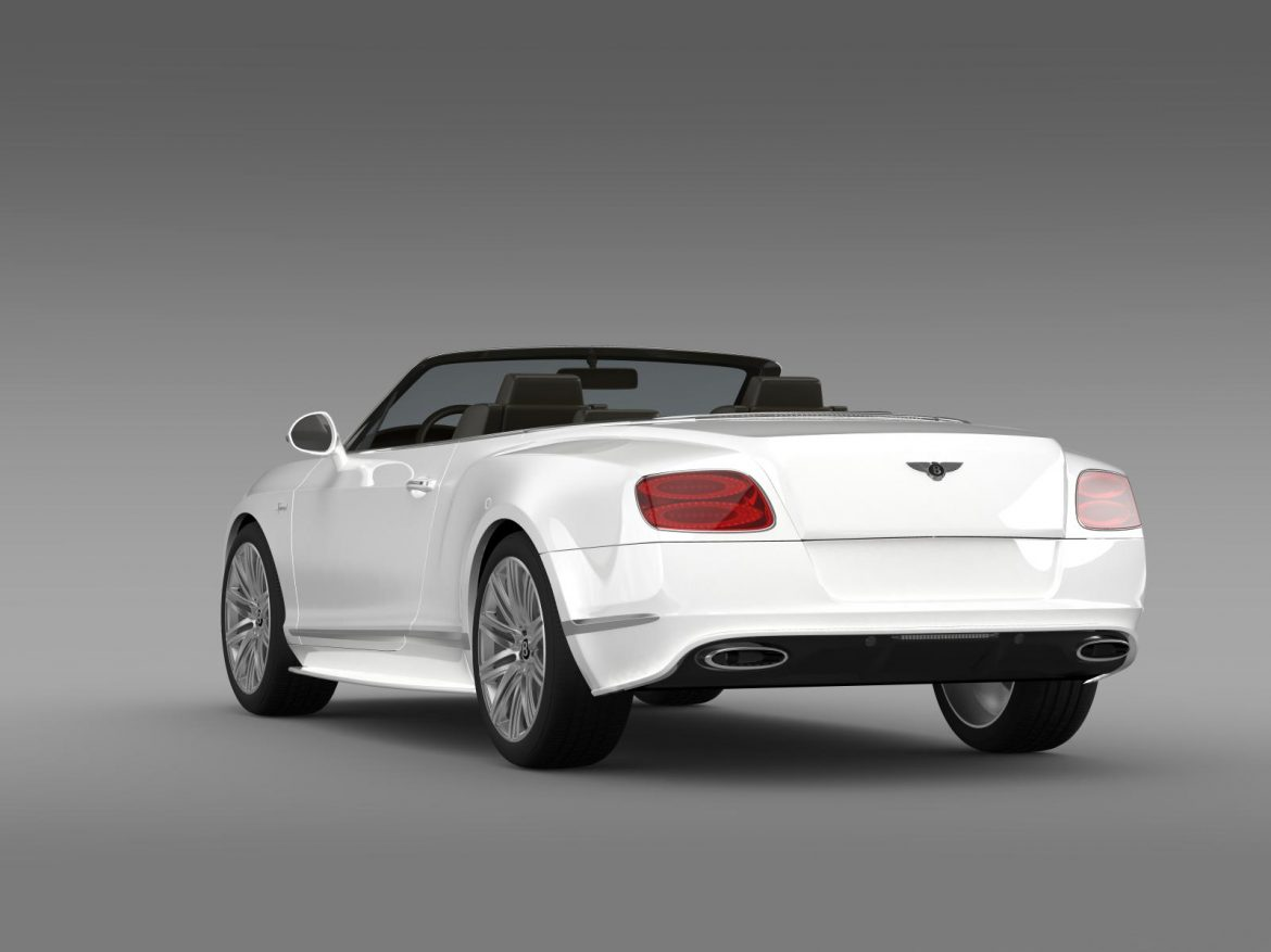 bentley continental gt speed convertible 2014 3d model 3ds max fbx c4d lwo ma mb hrc xsi obj 163872