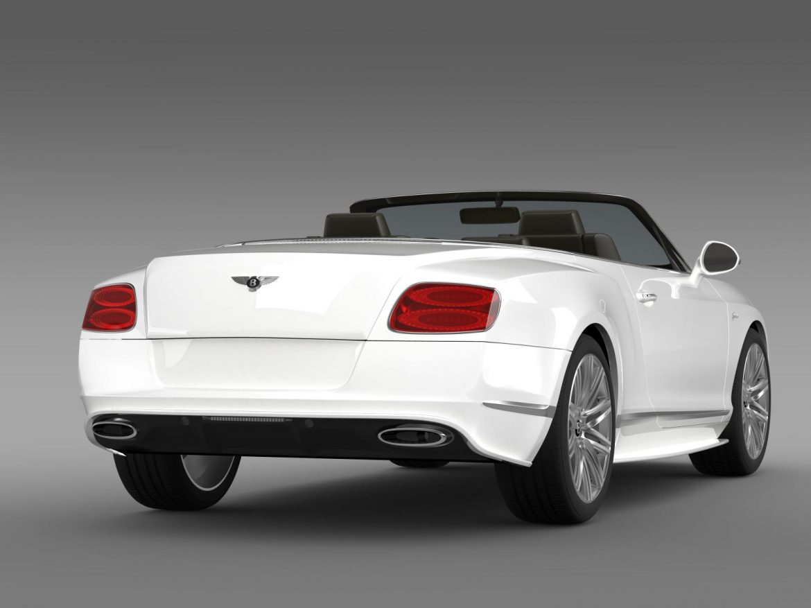 bentley continental gt speed convertible 2014 3d model 3ds max fbx c4d lwo ma mb hrc xsi obj 163873