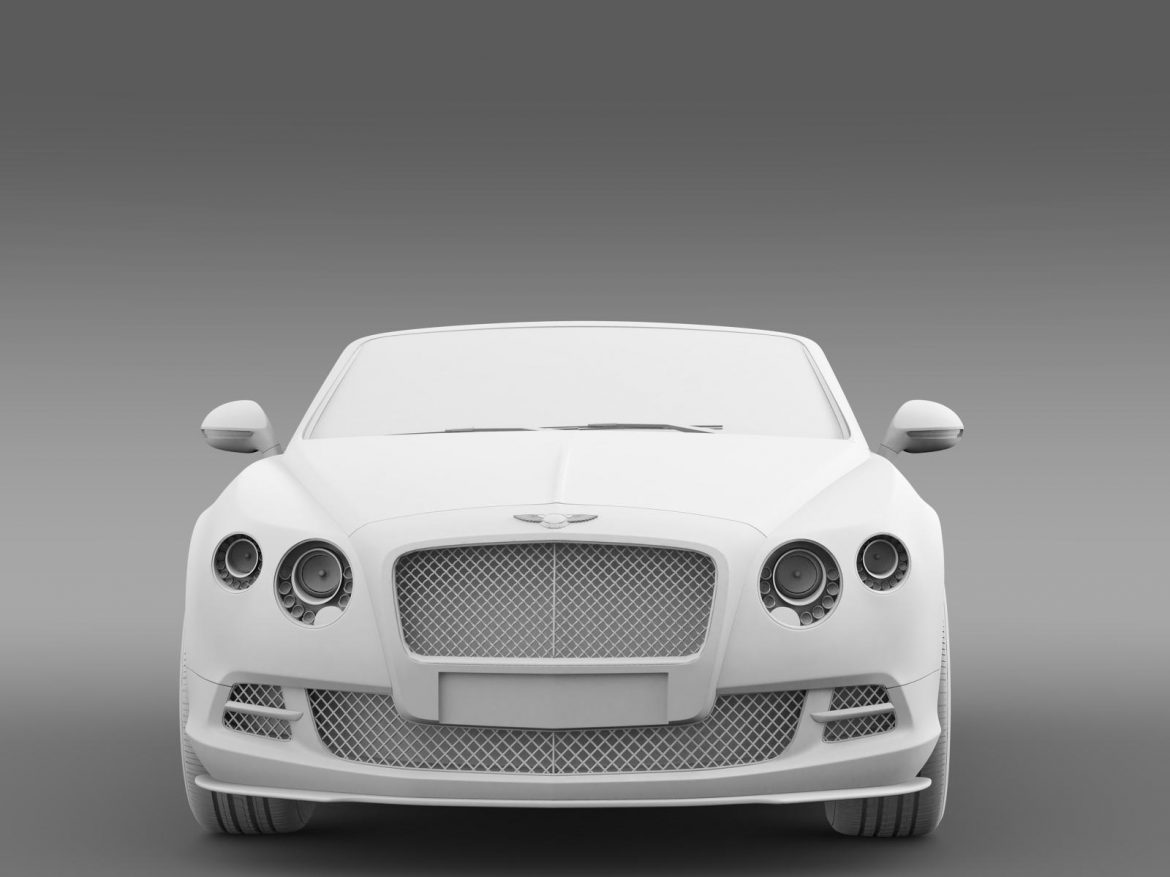 bentley continental gt speed convertible 2014 3d model 3ds max fbx c4d lwo ma mb hrc xsi obj 163874