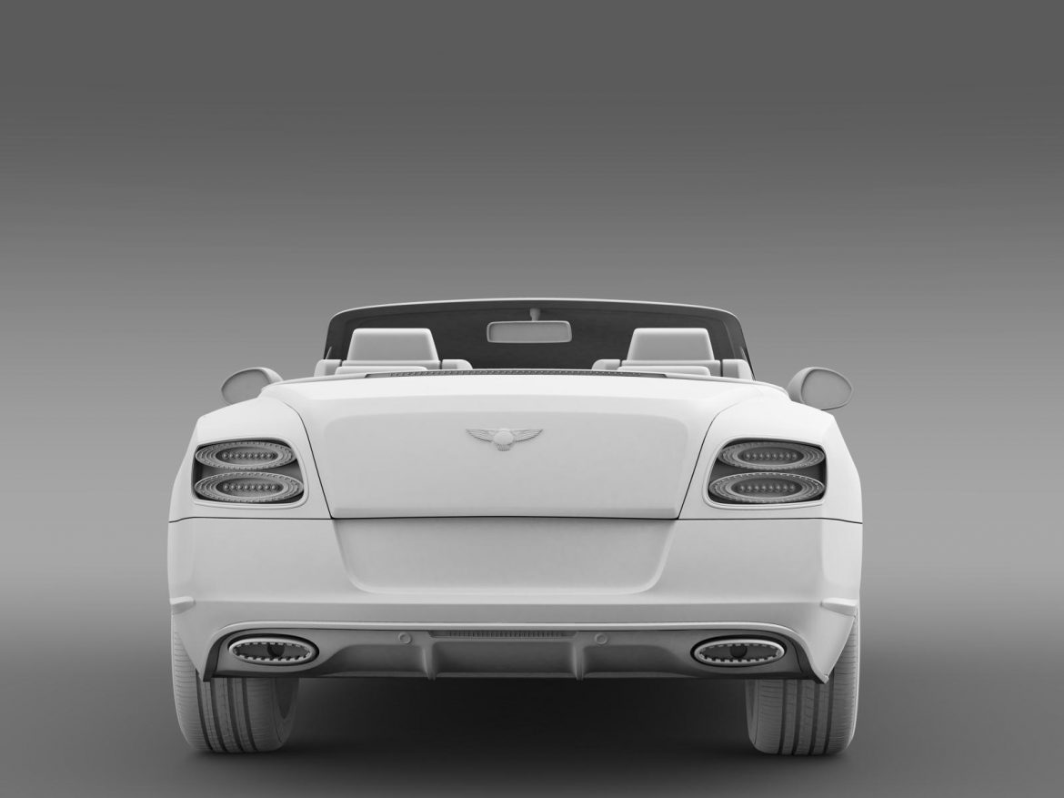 bentley continental gt speed convertible 2014 3d model 3ds max fbx c4d lwo ma mb hrc xsi obj 163875