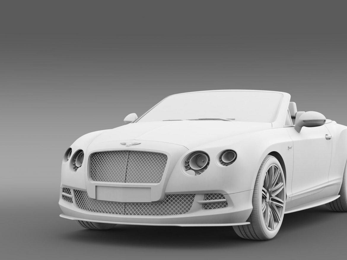 bentley continental gt speed convertible 2014 3d model 3ds max fbx c4d lwo ma mb hrc xsi obj 163876