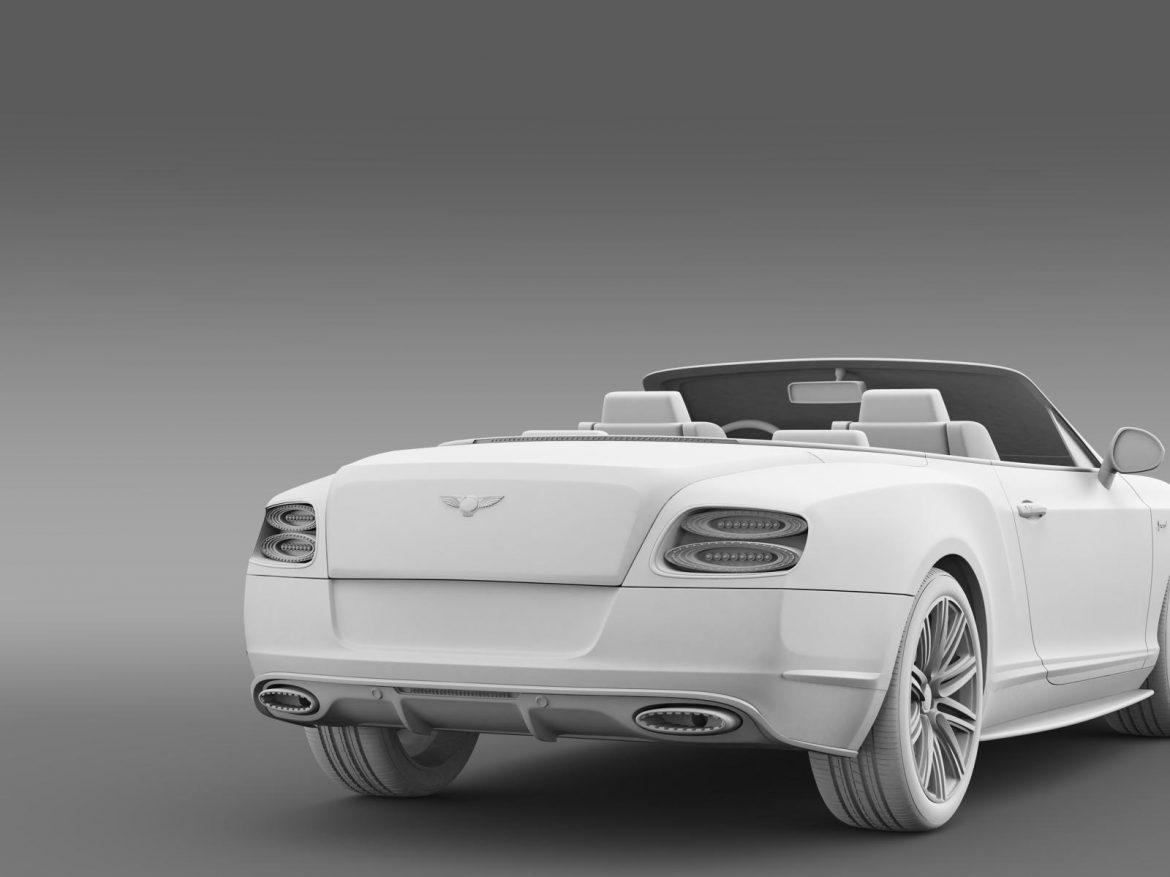 bentley continental gt speed convertible 2014 3d model 3ds max fbx c4d lwo ma mb hrc xsi obj 163877