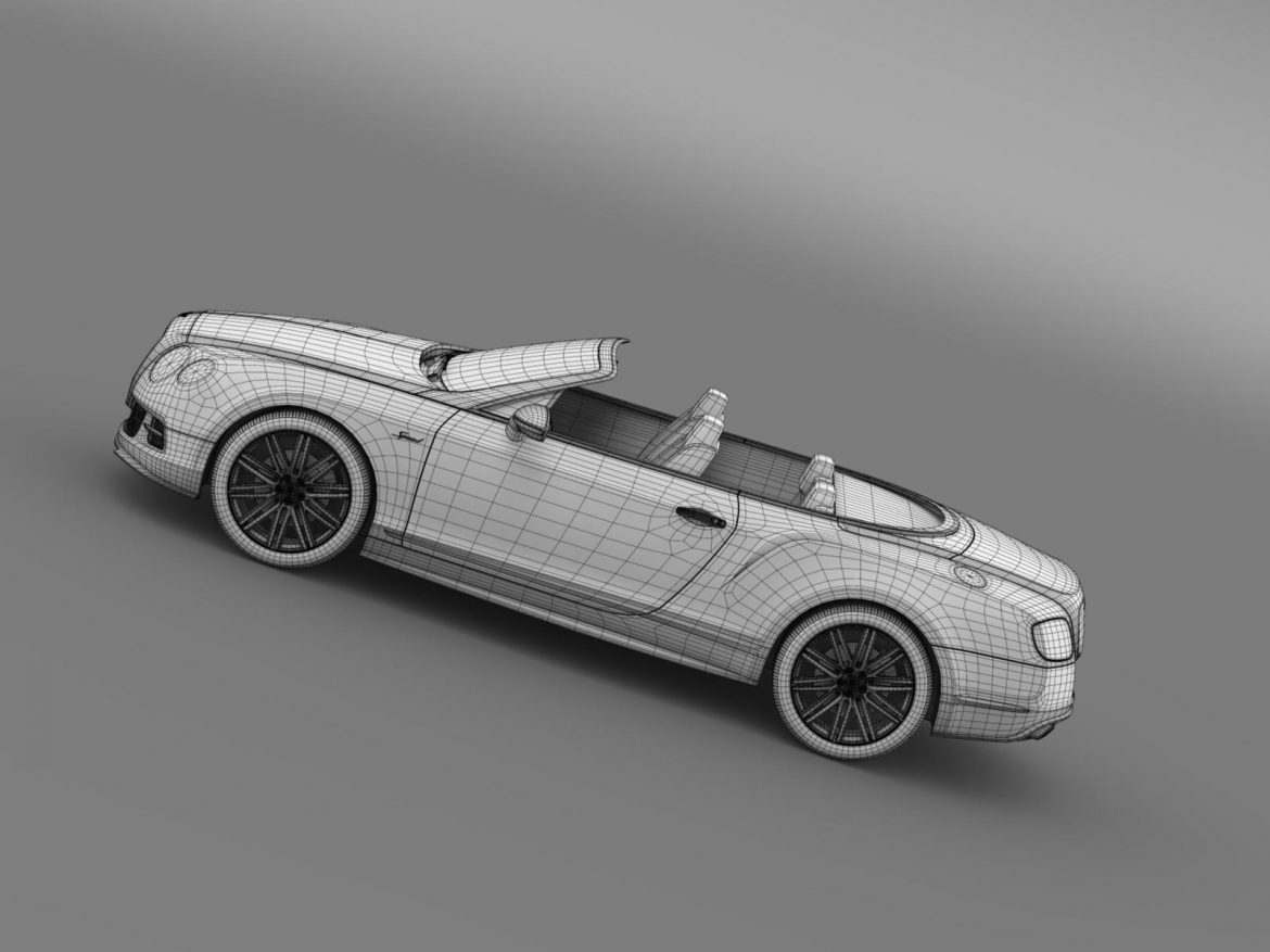 bentley continental gt speed convertible 2014 3d model 3ds max fbx c4d lwo ma mb hrc xsi obj 163879