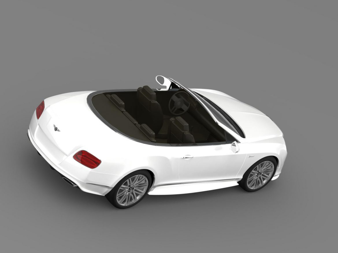 bentley continental gt speed convertible 2014 3d model 3ds max fbx c4d lwo ma mb hrc xsi obj 163881