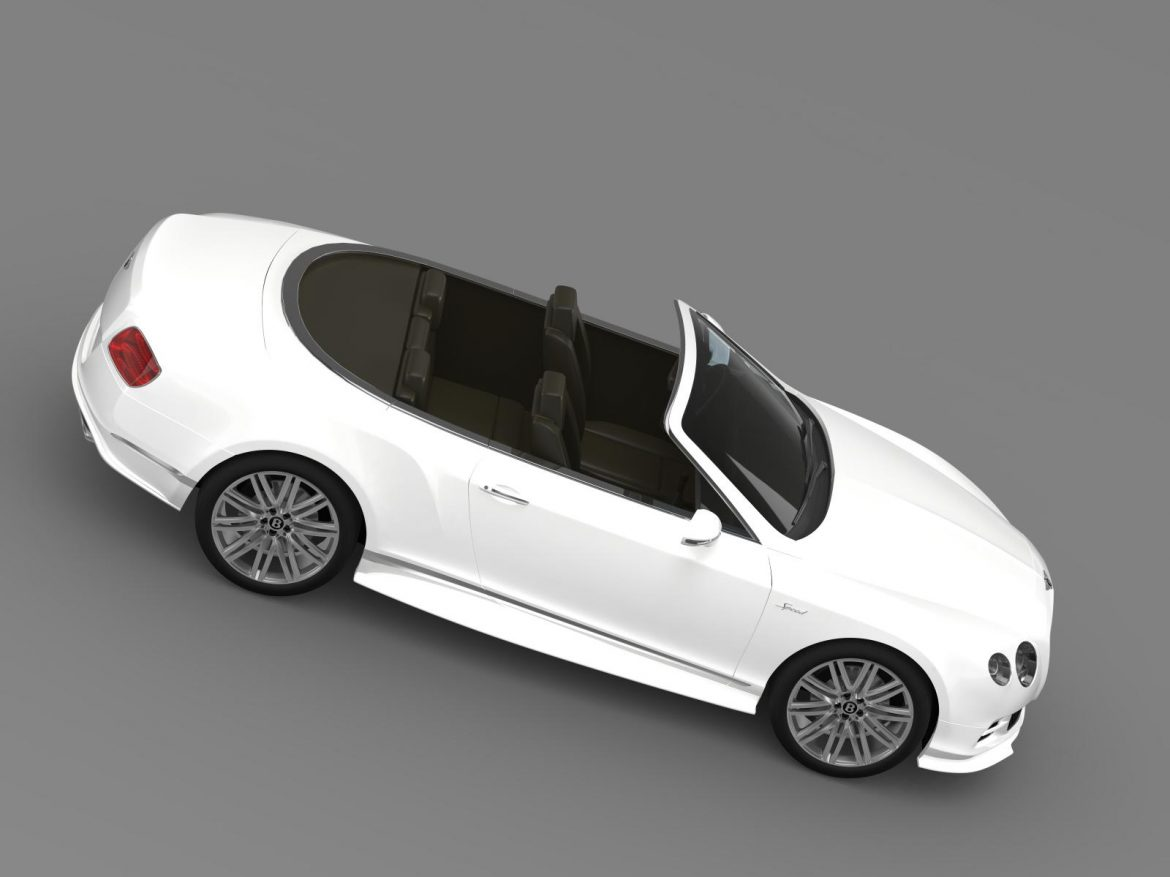 bentley continental gt speed convertible 2014 3d model 3ds max fbx c4d lwo ma mb hrc xsi obj 163882