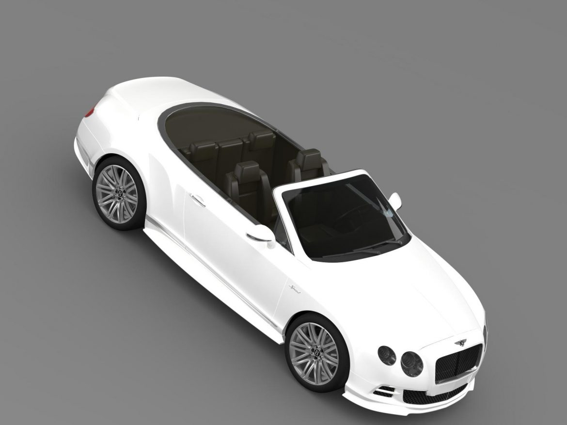 bentley continental gt speed convertible 2014 3d model 3ds max fbx c4d lwo ma mb hrc xsi obj 163883