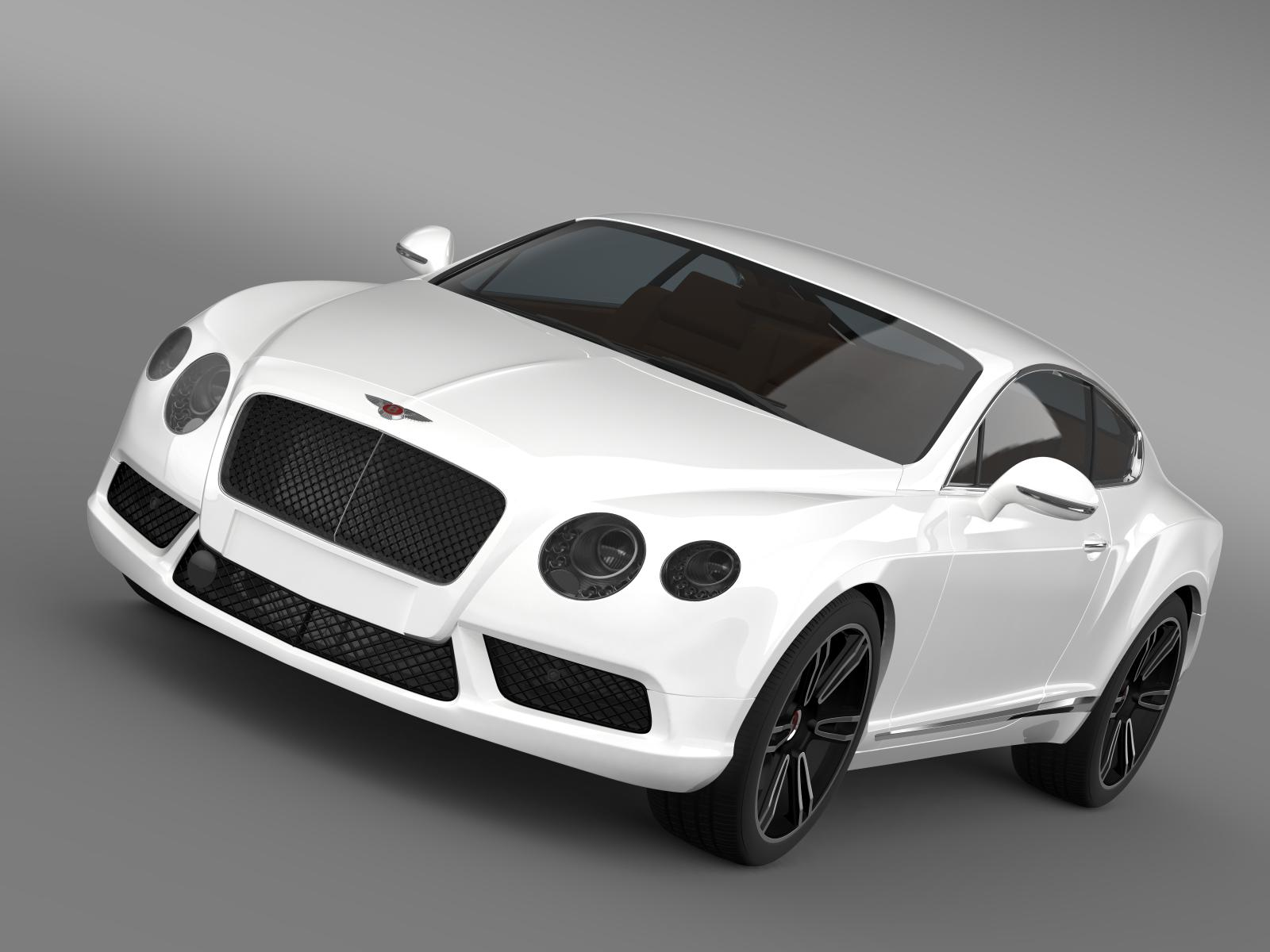 bentley continental gt v8 2013 3d model 3ds max fbx c4d lwo ma mb hrc xsi obj 164015