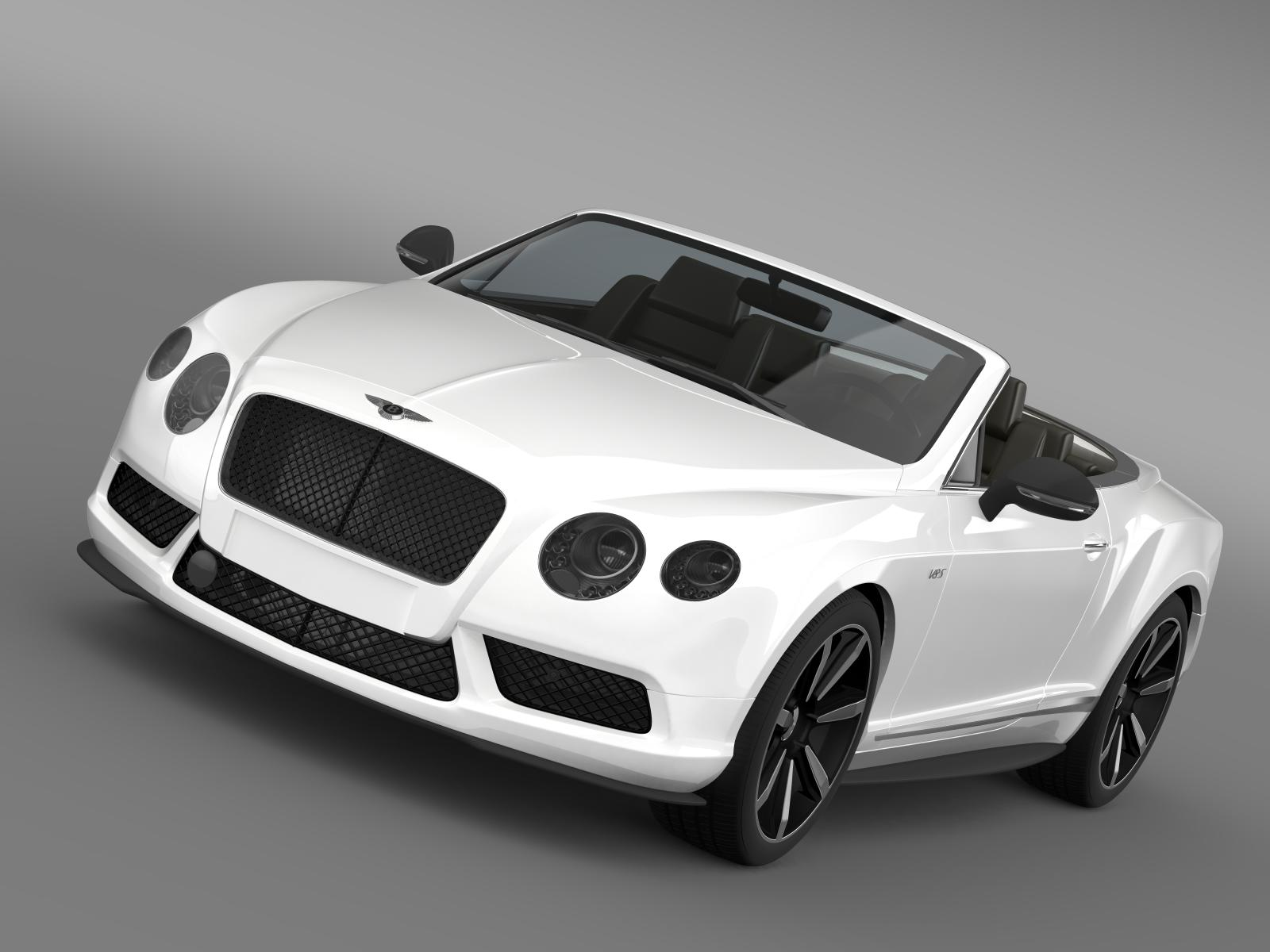 bentley continental gt v8 s convertible 2014 3d model 3ds max fbx c4d lwo ma mb hrc xsi obj 164034