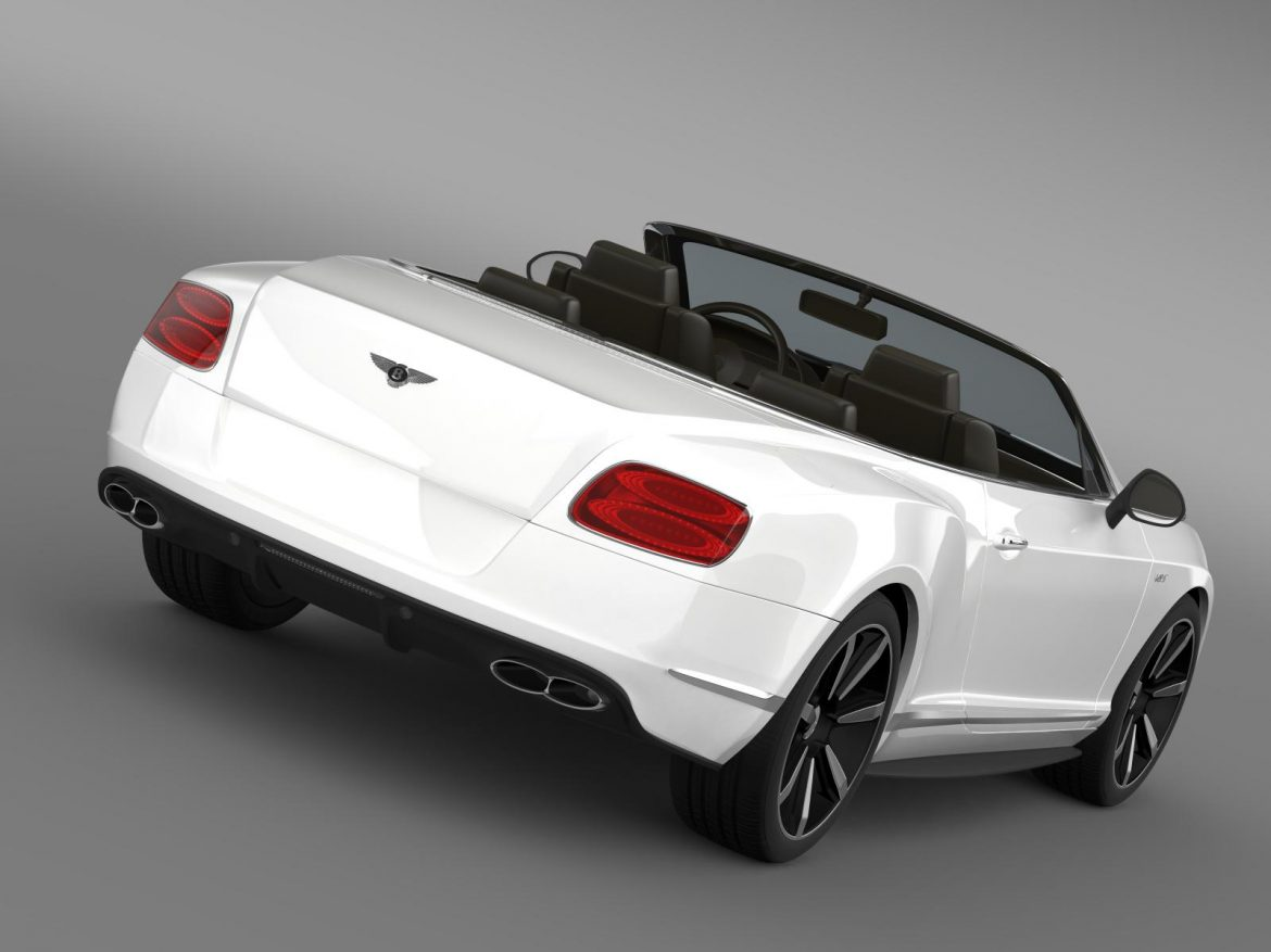 bentley continental gt v8 s convertible 2014 3d model 3ds max fbx c4d lwo ma mb hrc xsi obj 164035