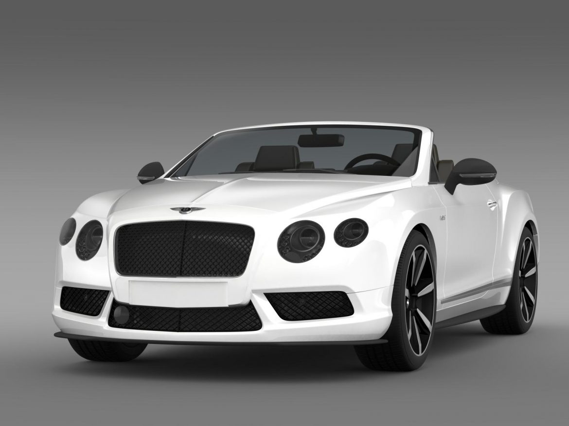 bentley continental gt v8 s convertible 2014 3d model 3ds max fbx c4d lwo ma mb hrc xsi obj 164036