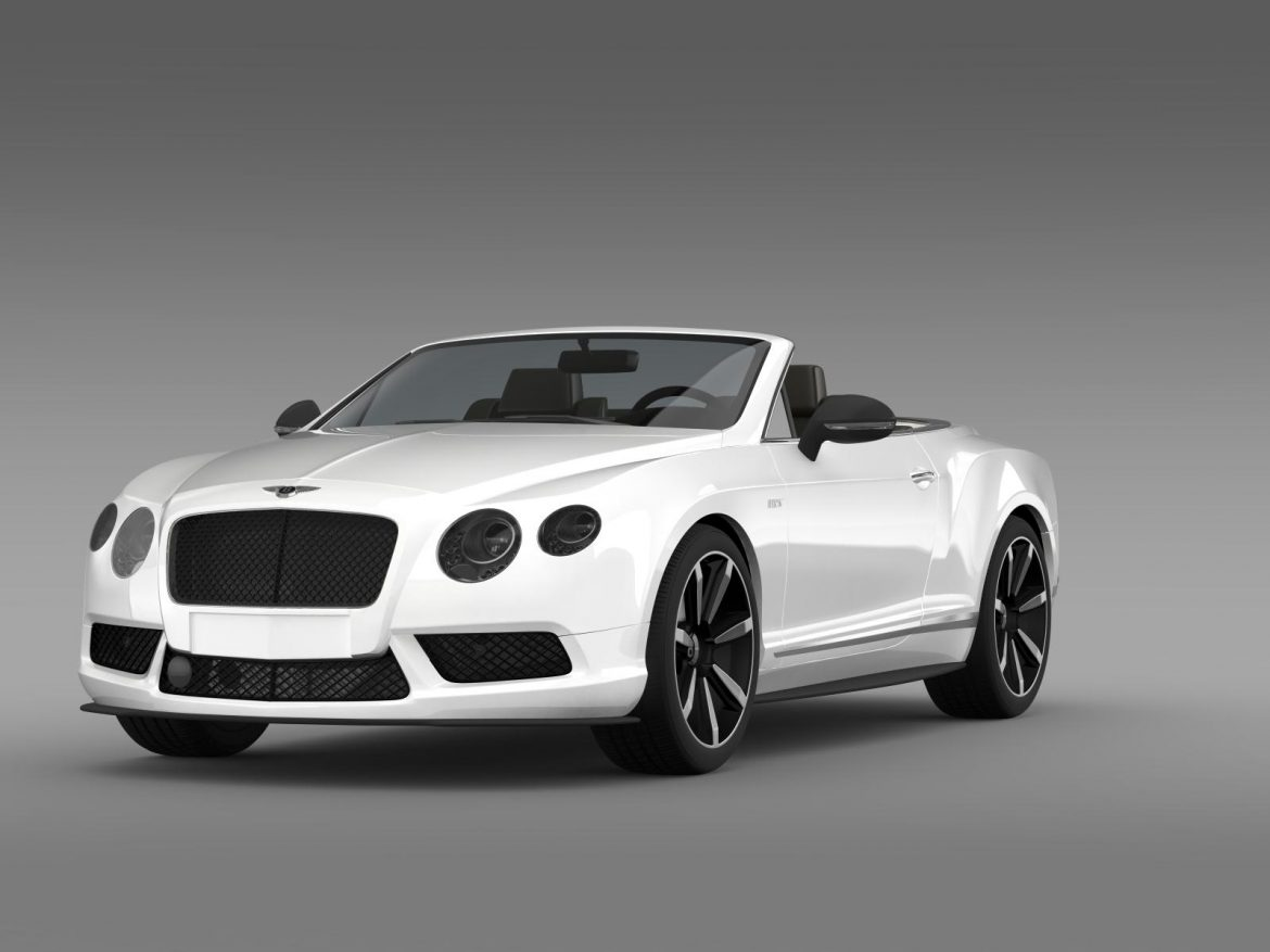 bentley continental gt v8 s convertible 2014 3d model 3ds max fbx c4d lwo ma mb hrc xsi obj 164037