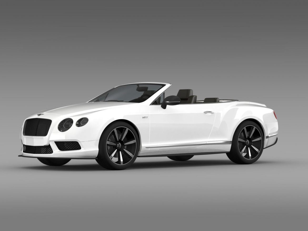 bentley continental gt v8 s convertible 2014 3d model 3ds max fbx c4d lwo ma mb hrc xsi obj 164038