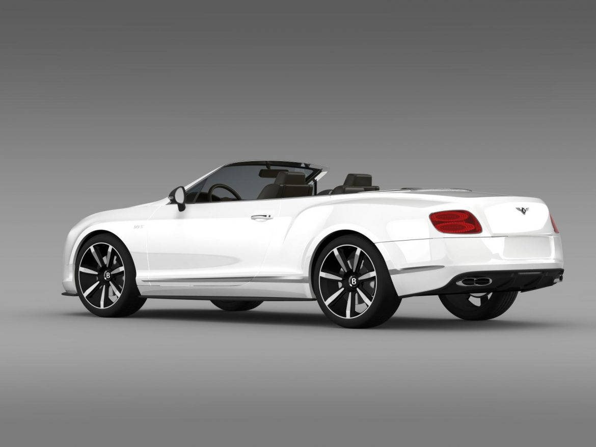 bentley continental gt v8 s convertible 2014 3d model 3ds max fbx c4d lwo ma mb hrc xsi obj 164040